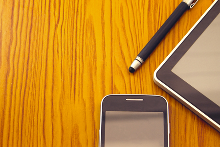 communication tools: Mobile, stylus and tablet. Modern Digital devices Indispensable Communication Tools.