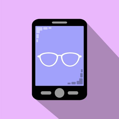 Smartphone icon read and analyze attentively