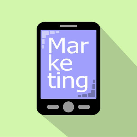 smartphone business: Smartphone icon business and marlketing