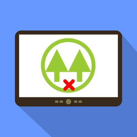 cooperativismo: Sin Ilustración del vector del icono de la tableta Cooperativa.