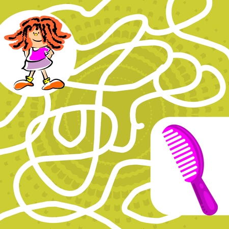 You can help the girl find her comb