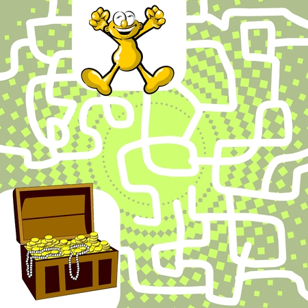 You can help the man find the treasure chest