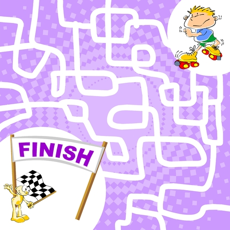 run way: You can help the skater boy find the finish line.