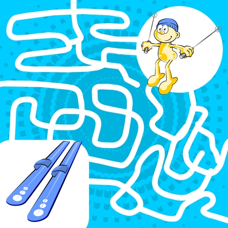 pathfinder: You can help the skier find his lost skis Illustration