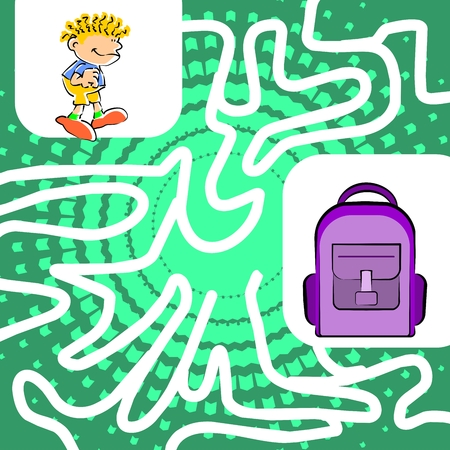 pathfinder: You can help the child find his school backpack