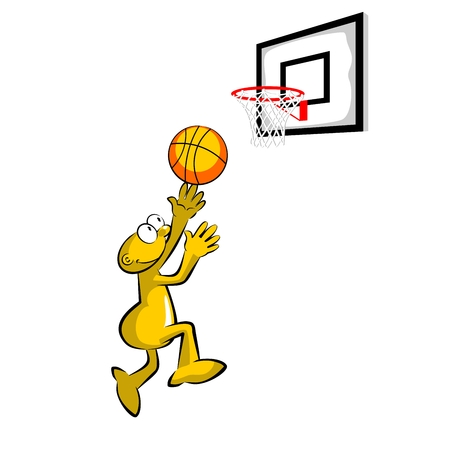 Basketball player throwing the ball into the basket - storyboard