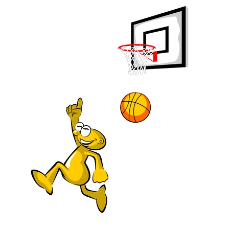 Storyboard: Basketball player throwing the ball into the basket - storyboard