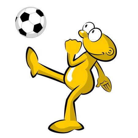 Storyboard: Funny soccer player practicing