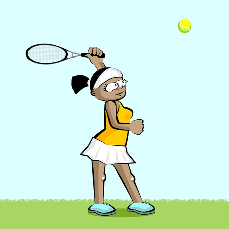 Female Tennis player. Conceptual illustration about female tennis Illustration