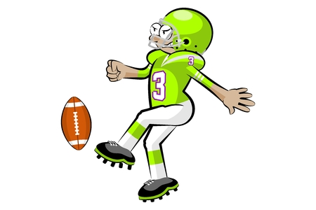 tough: American Footbal Players in cartoon style. Conceptual vector illustrations. Illustration