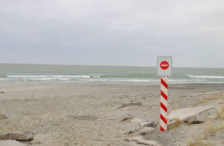 Coastal landscape. Closed access to the sea. Reklamní fotografie