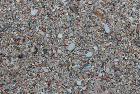 The texture of the sand and gravel.