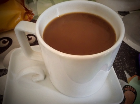 白のコーヒーマグ 写真素材