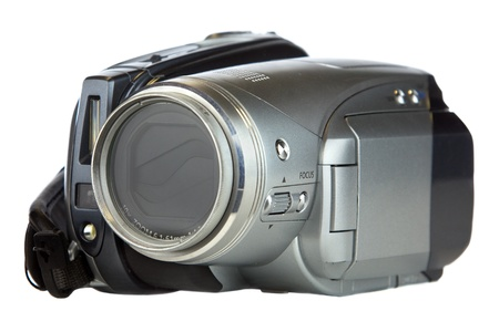 Video camera isolated on a white background. photo