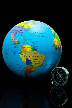 compass and  beauty color on the world photo