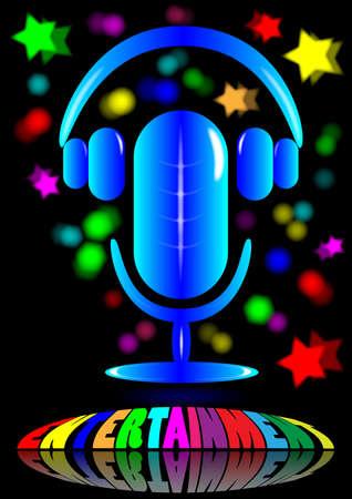 microphone and headphone Stock Photo - 13707840