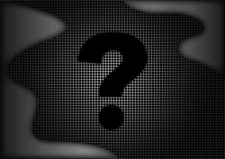 porous: question symbol on porous surface