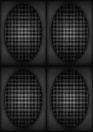 porous: beauty of surface porous black hole pattern Stock Photo