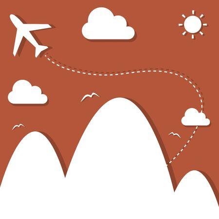 fell: airplane flying Illustration