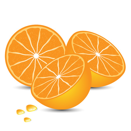 tasty: luscious sweet and tasty orange on white background