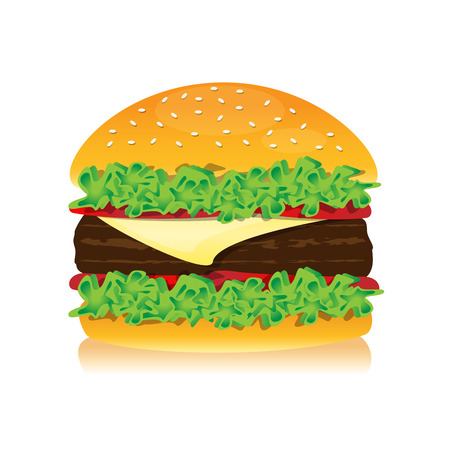delicious: delicious hamburger for lunch