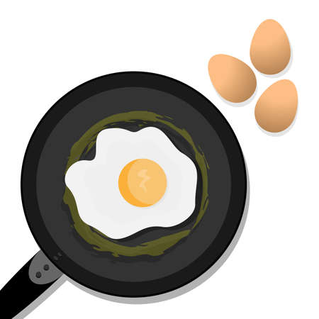 fried: fried eggs in a pan