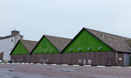 sheds: Big sheds for storage in a dock in Aarhus, Denmark