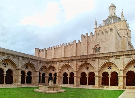 Cloister of Se Velha in Coimbra, Portugal Stock Photo