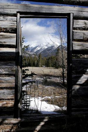 From inside Moberly cabin in Jasper.