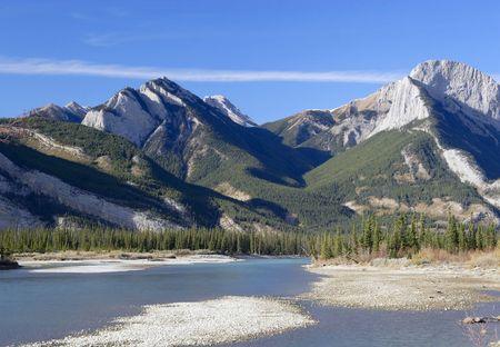 In Jasper National Park, Alberta, Canada Stock Photo