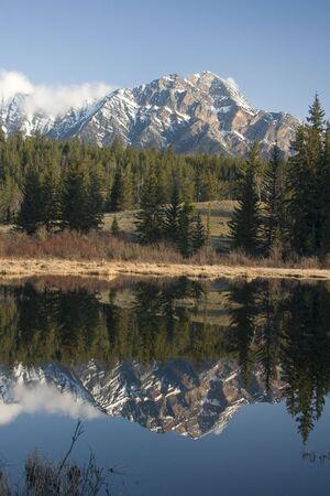 Reflected in Pyramid Lake, Jasper National Park