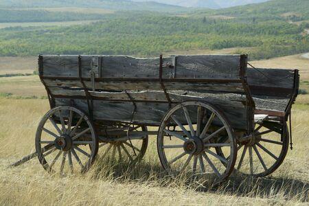 Old wagon on the Alberta prairies.