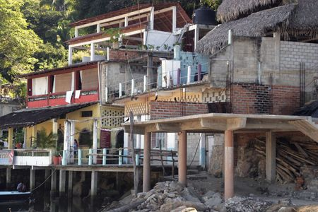 Mexican housing in a small fishing village.
