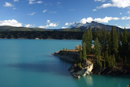 Abraham Lake, formed by Big Horn dam.