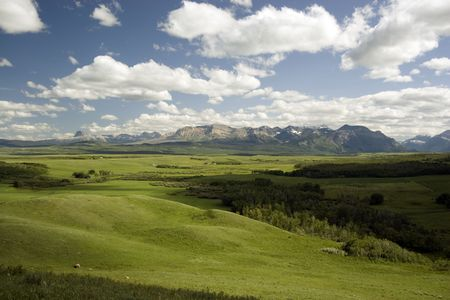 Landscape shot near Waterton Lakes National Park.