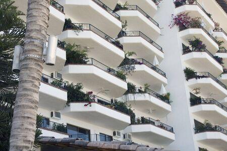 High rise apartment building in Puerto Vallarta, Mexico.