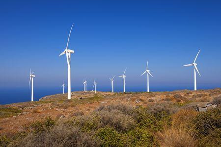 Mountain landscape. Windmills. Crete. Greece. photo