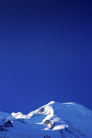 blanc: Mont Blanc, Chamonix, French Alps. France. Stock Photo