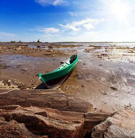 Ebb. The White Sea, Korelia, Northern Russia. photo