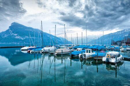 Boats on Lake Thun. Bernese Oberland. Switzerland. photo