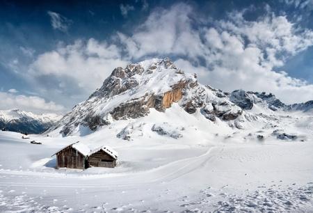 fassa: Canazei, Val di Fassa, Dolomiti, Alpes, Italy Stock Photo