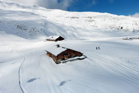 european alps: The ski slope in the Bernese Alps in Switzerland.