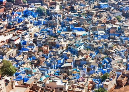Een zicht op Jodhpur, de blauwe stad van Rajasthan, India Stockfoto