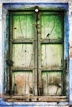 shutter door: Old wooden shutters, background