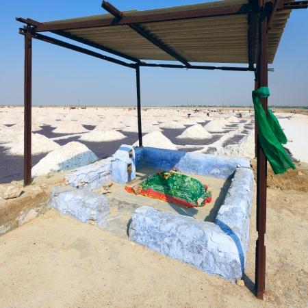 tonnes: Holy place near the Sambhar Salt Lake, Rajasthan, India .