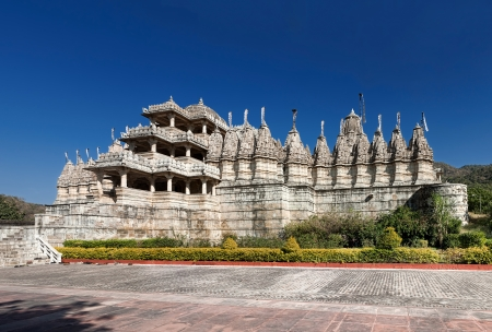 historic place: Sheth Anandji kalyanji Temple.  Adinath Temple, Jain Temple, Ranakpur, Pali District, Udaipur, Rajasthan, India, Asia