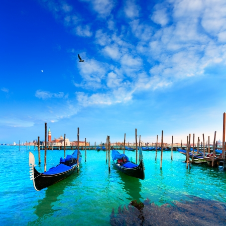 Venice. Gondolas. Canale della Giudecca. San Giorgio Maggiore. Venice is a city in northeast Italy which is renowned for the beauty of its setting, its architecture and its artworks. It is the capital of the Veneto region.
