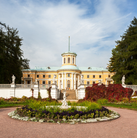 Museum-Estate of Arkhangelskoye, Grand Palace,  Arkhangelskoye - unique monument of Russian architecture of the manor, located 20 kilometers northwest of Moscow  Stock Photo - 24484465