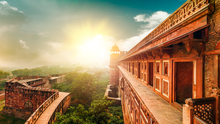 Agra Fort, is a monument,located in Agra, Uttar Pradesh, India. The fort can be more accurately described as a walled city. photo