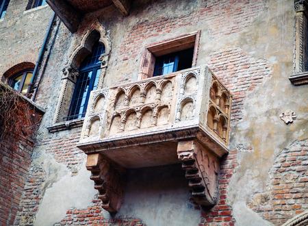 verona: Juliets balcony in Verona, Italy Stock Photo